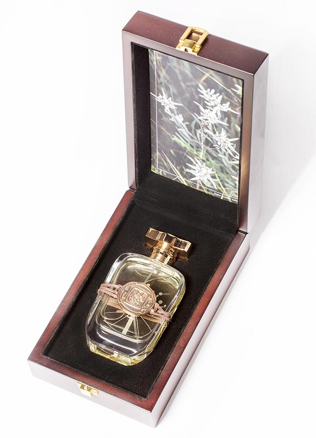 Silver Edelweiss, 95ml, wooden box